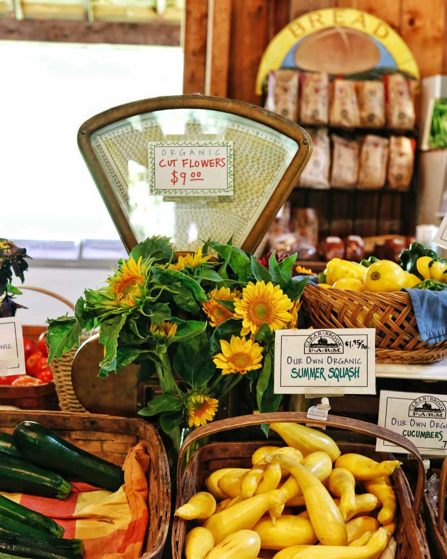 clear brook farm vermont farmstand produce flowers