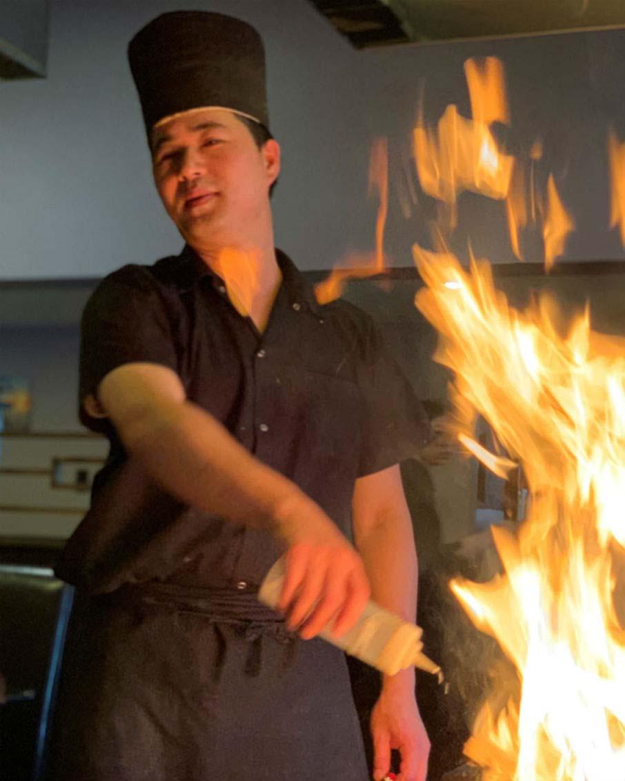 hibachi chef fire fuji restaurant bennington vt