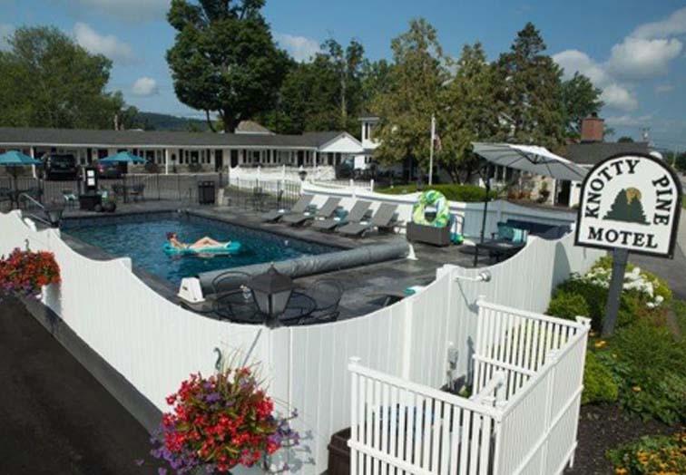 bennington hotel pool knotty pine