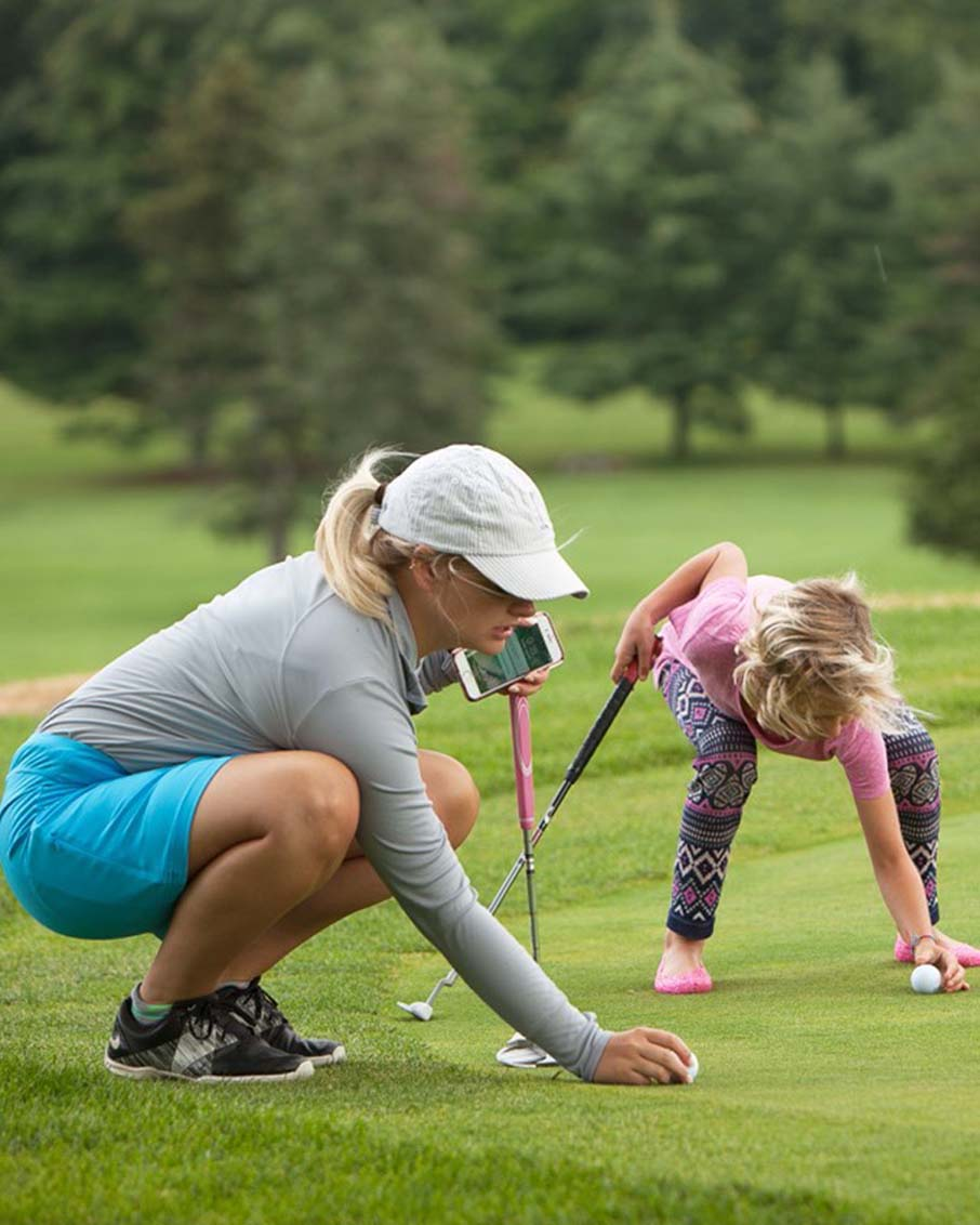 kids golf camp girls putting bennington vermont camps