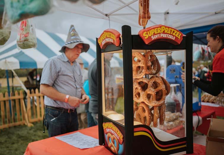octoberfest vermont event bennington pretzel stand