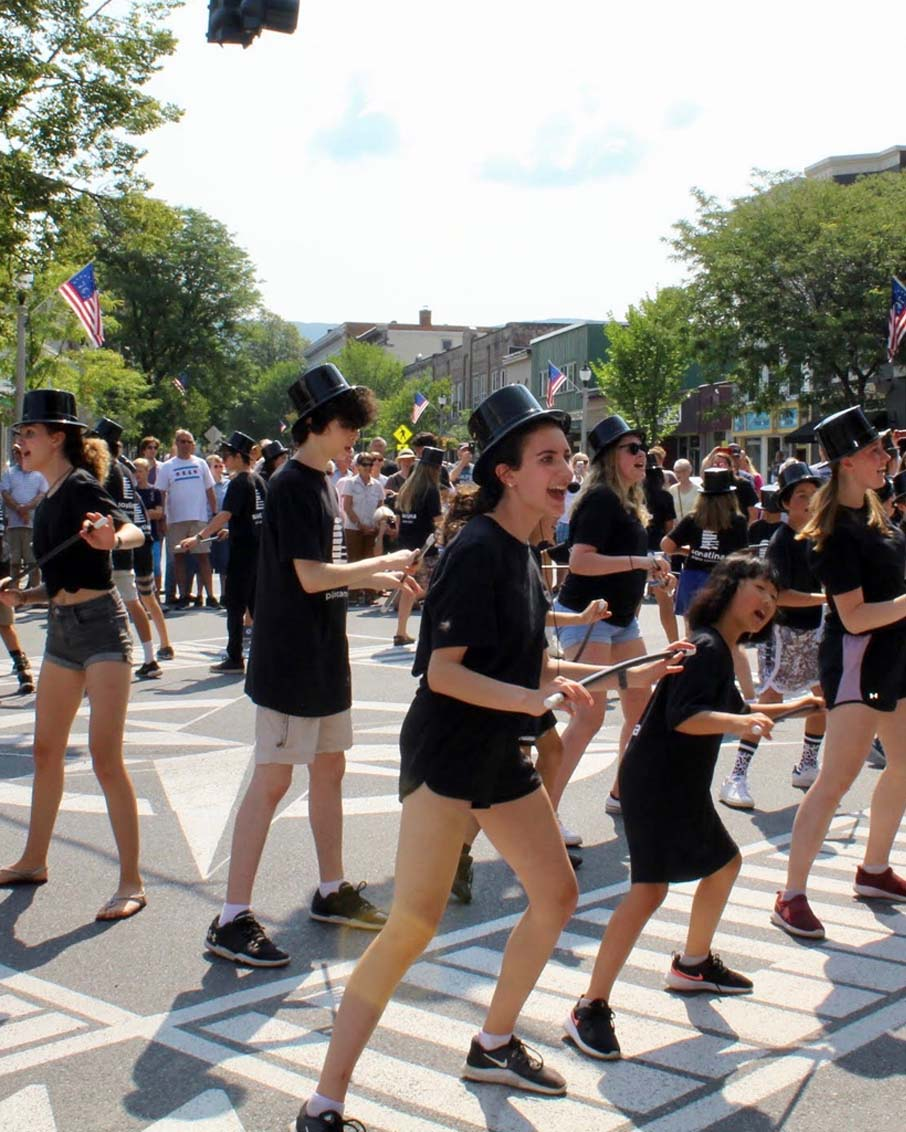 summer camp downtown flash mob dance bennington vt
