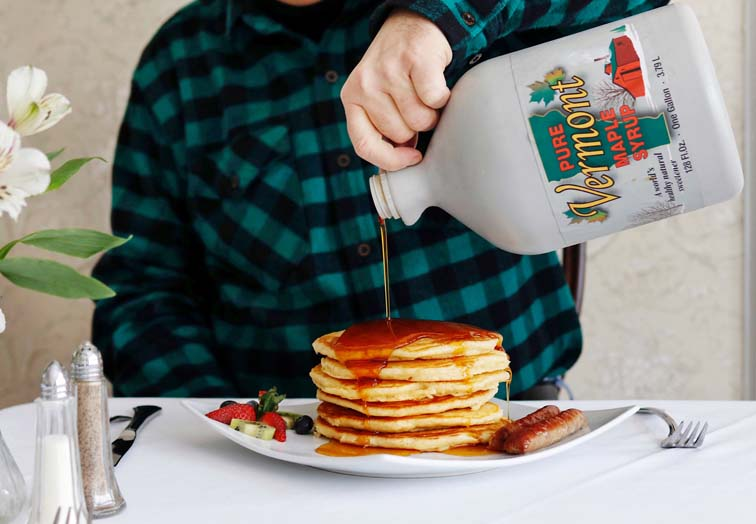 vermont maple syrup pancakes