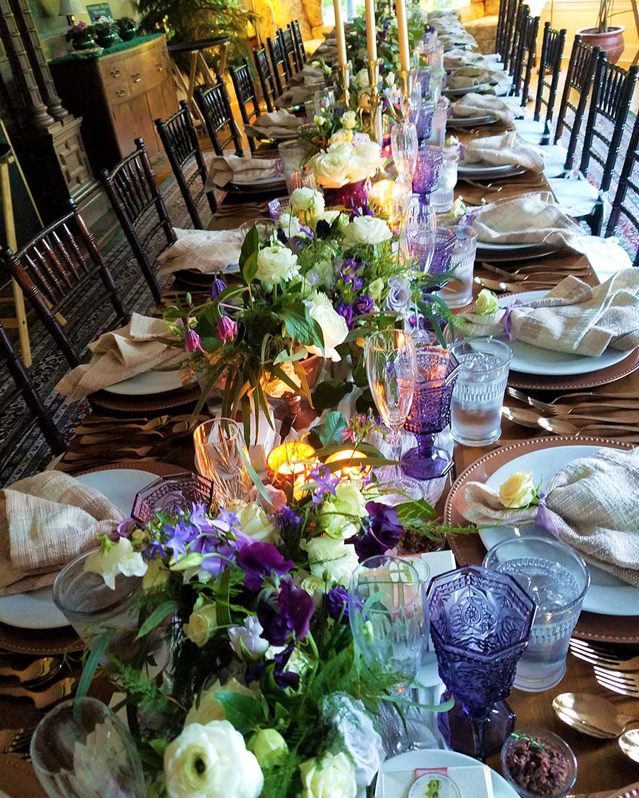 thyme tables vermont caterer wedding set up