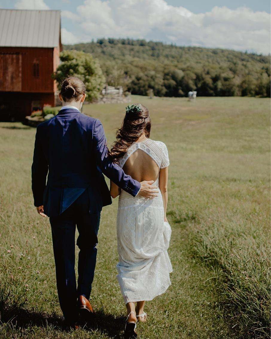 bennington vermont country wedding