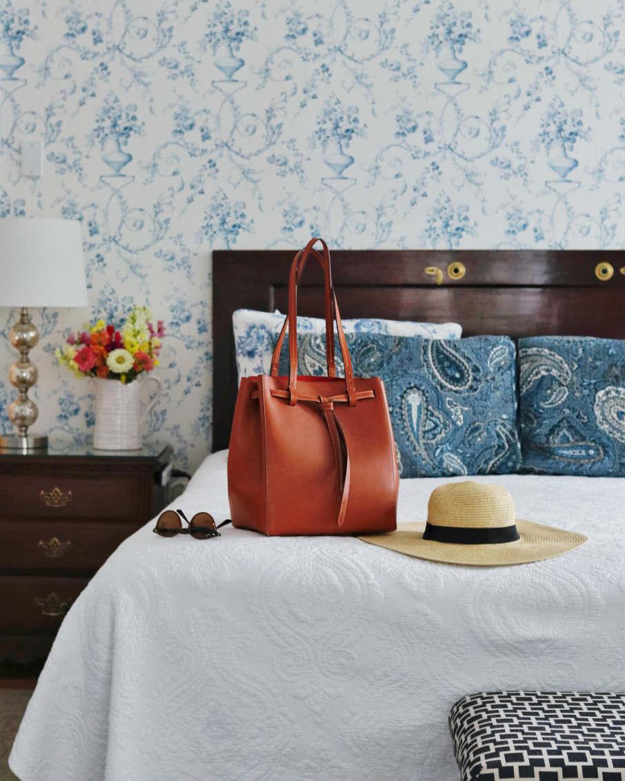bennington hotel bedroom vignette