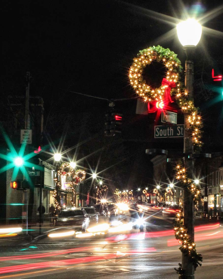 bennington vermont downtown holiday lights
