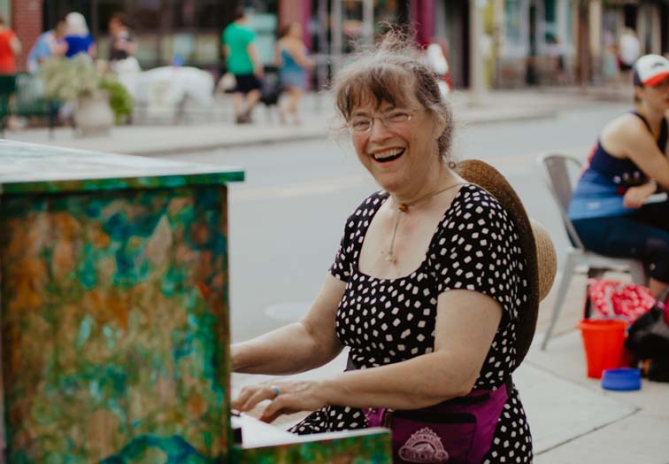 downtown piano player bennington vermont arts community
