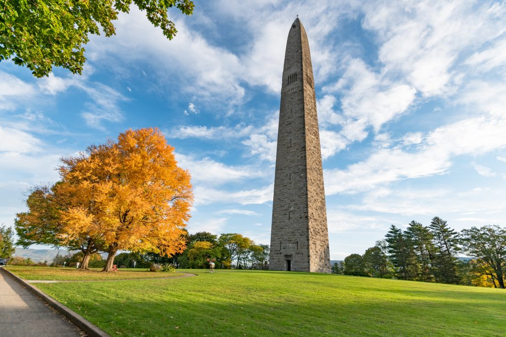 The Bennington Battle Monument in Old Bennington, Vermont.