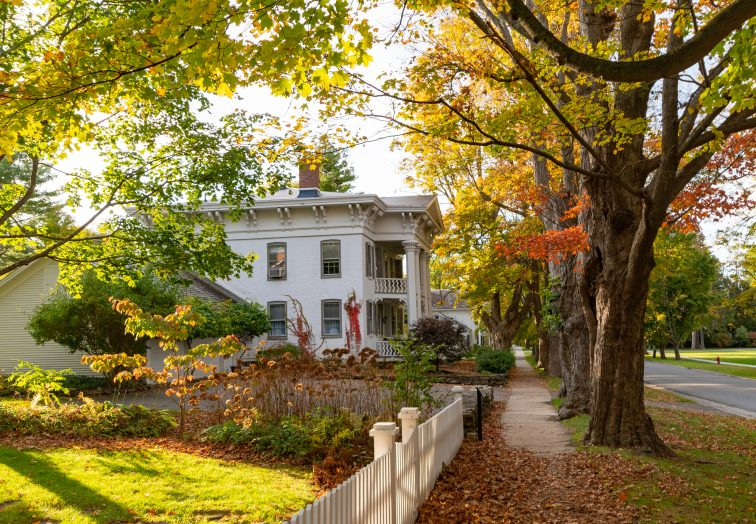 A historic home in Old Bennington, Vermont.
