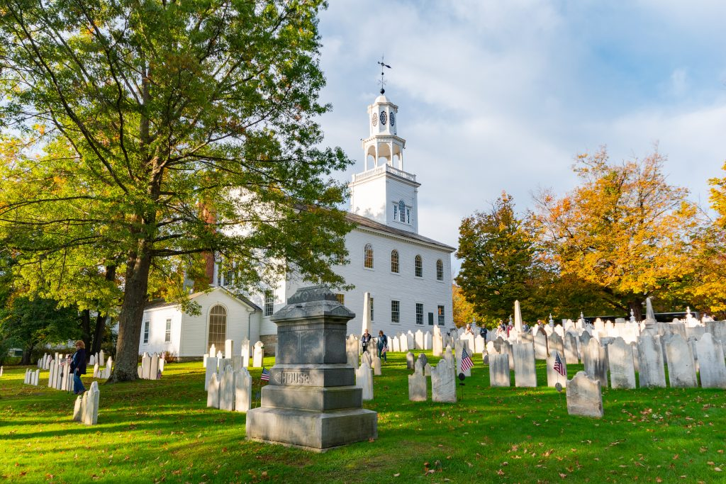 The Old First Church in Bennington, Vermont.
