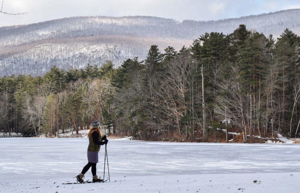 Snowshoeing in Lake Shaftsbury State Park