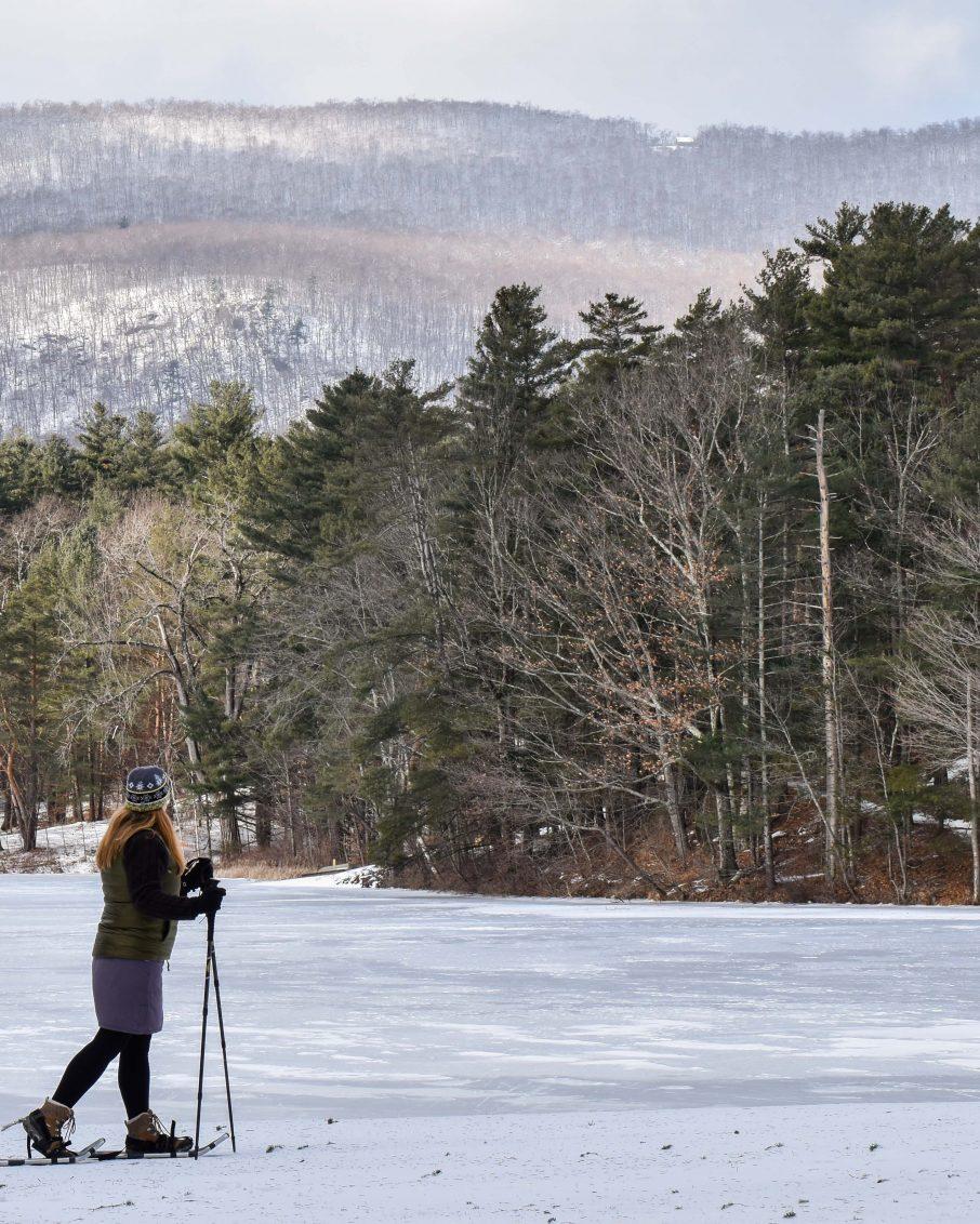 Snowshoeing near Bennington Vermont