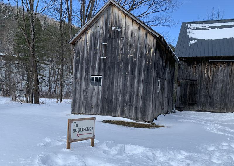 A sugarhouse in Bennington, Vermont during Maple Weekend.