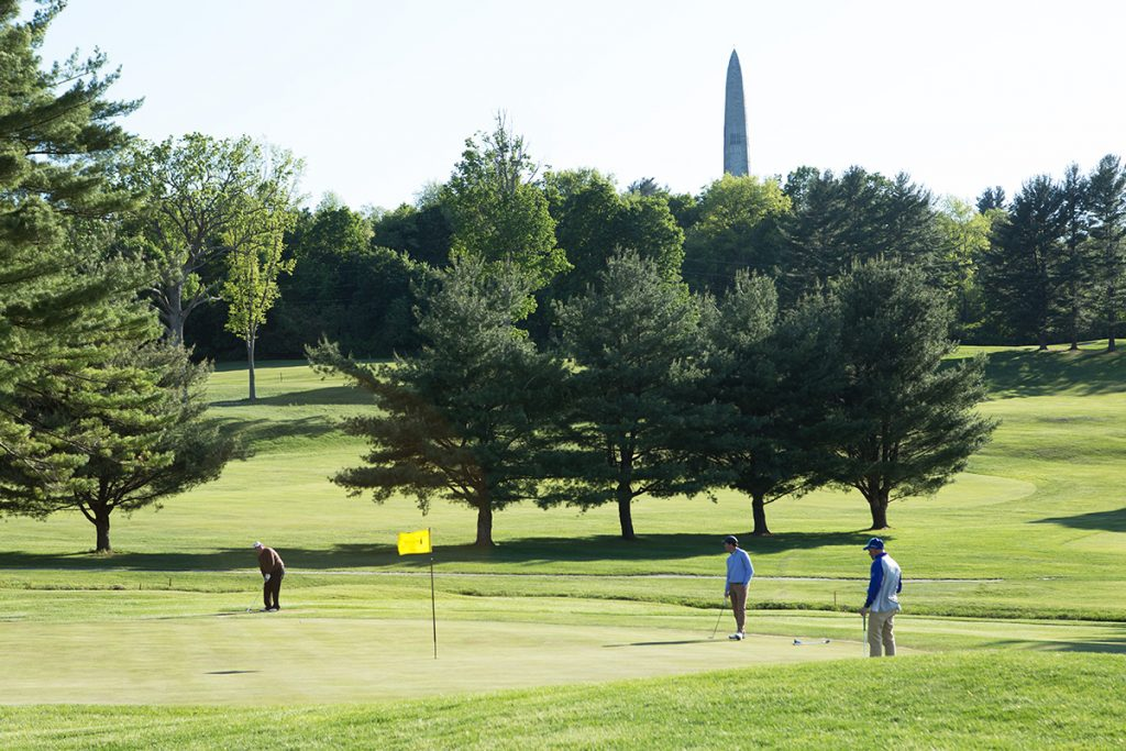 The 18th hole at the Mount Anthony Country Club in Bennington
