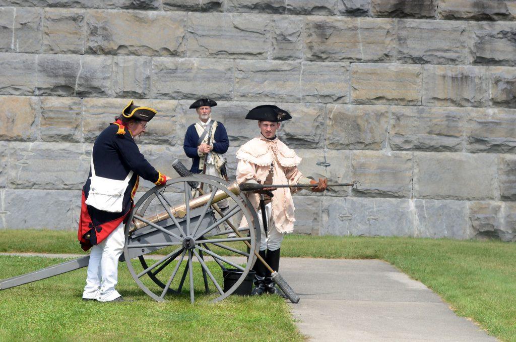 Readying a cannon for firing at a past Bennington Battle Day celebration. Photo credit: Caroline Bonnivier Snyder via The Bennington Banner