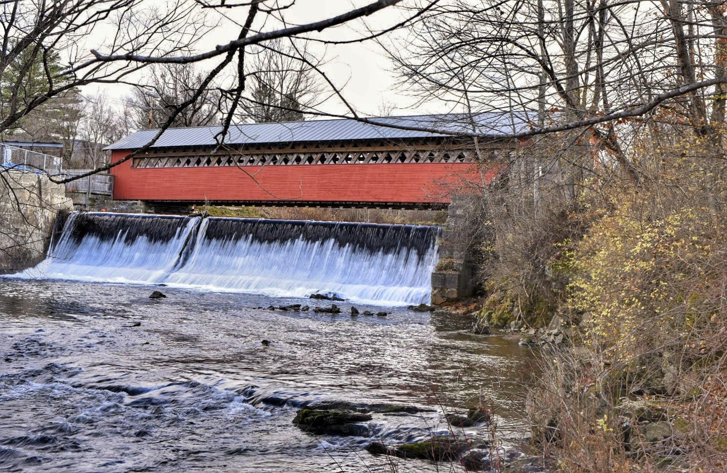 The Paper Mill Village Bridge in Bennington, Vermont