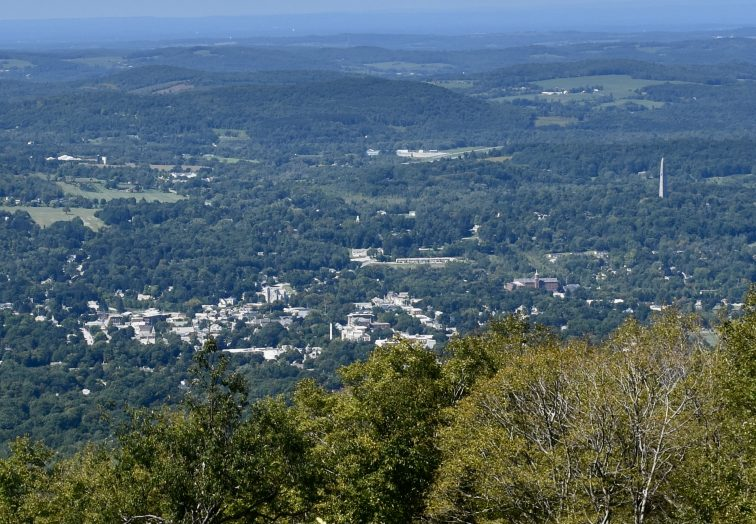 The view from Harmon Hill in Bennington, Vermont